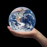 hand holding globe196