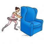 dancer-pushes-large-blue-chair
